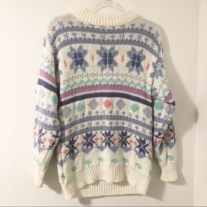 Vintage Pastel Fairy Kei Cozy Knit Sweater